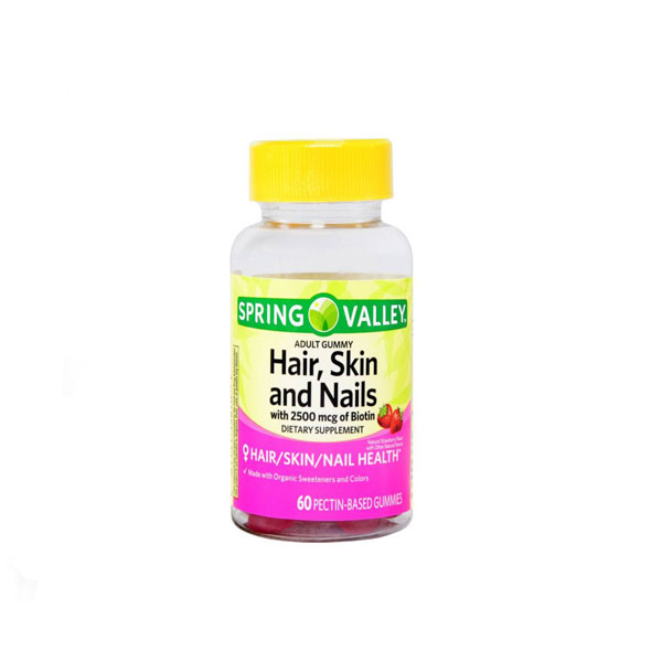 Spring-Valley-Hair,-Skin-and-Nails-Gummies-with-Biotin